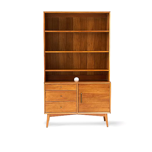 midcentury wide hutch + console from West Elm