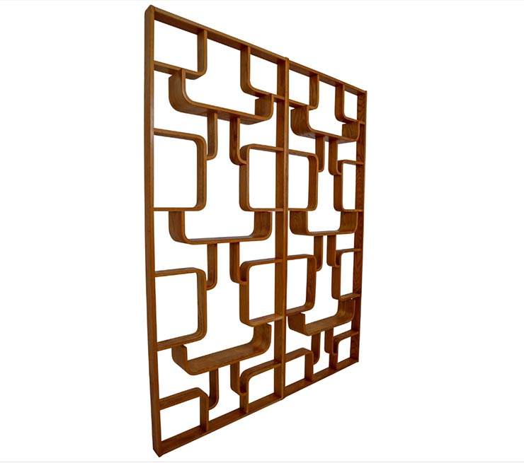 Midcentury Room Divider Shelves for Thonet in Bent-Wood, circa 1960s
