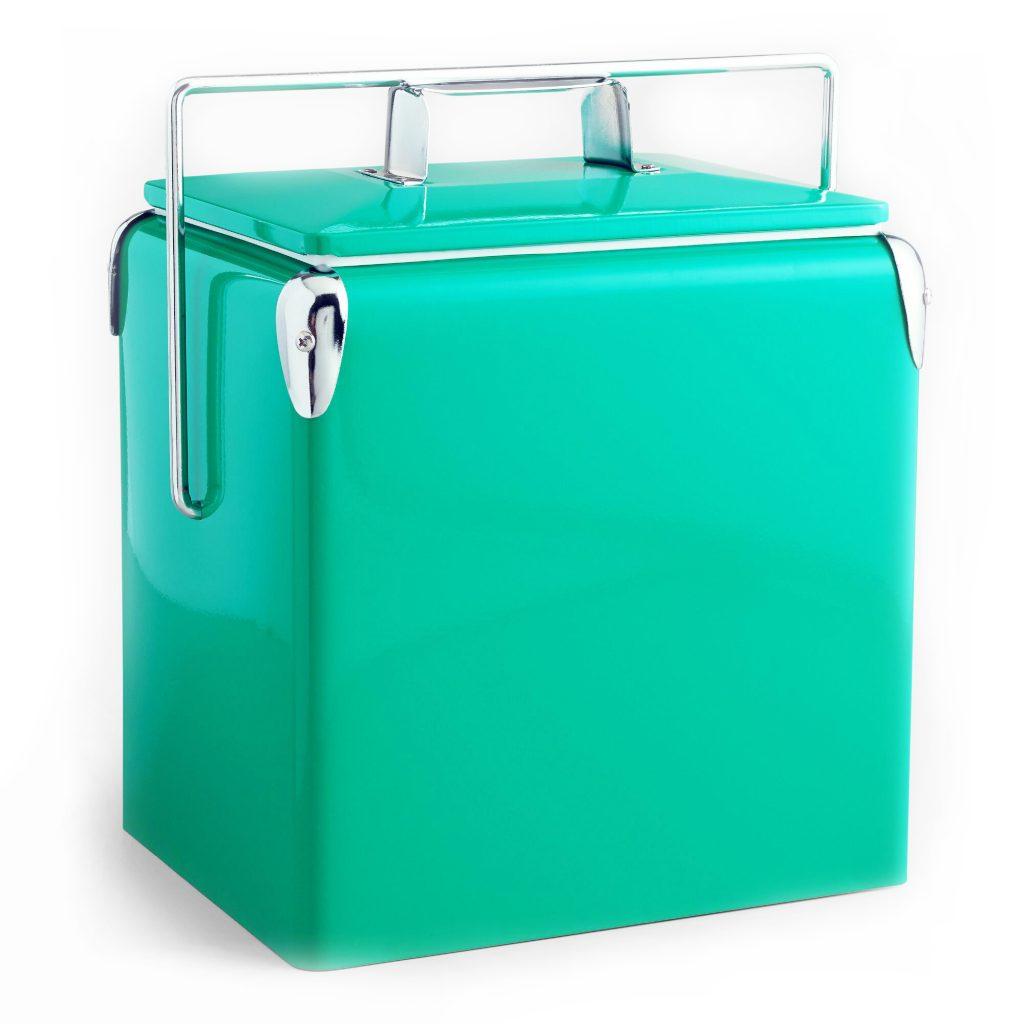 Aqua retro drink cooler from World Market
