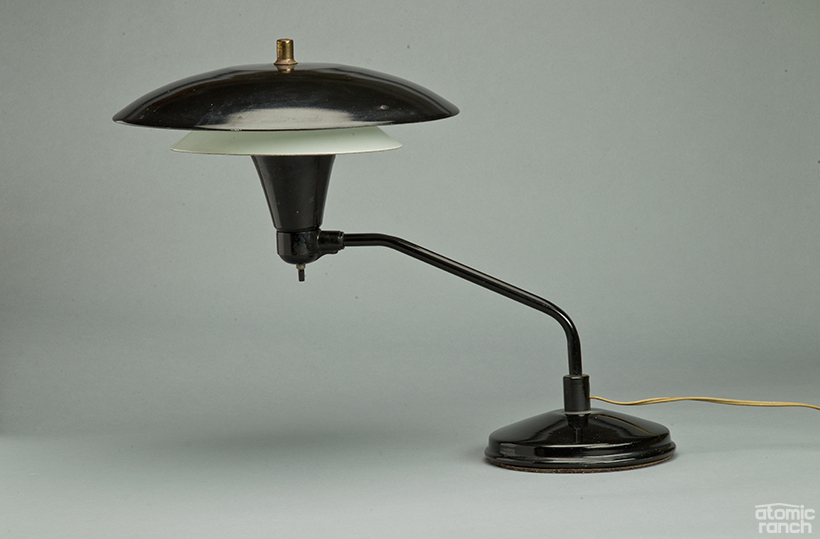 "1950s ""flying saucer"" lamp from Art Specialty Co"
