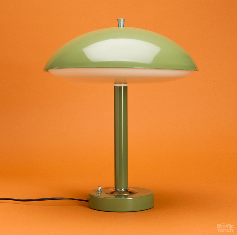 Art Deco saucer lamp