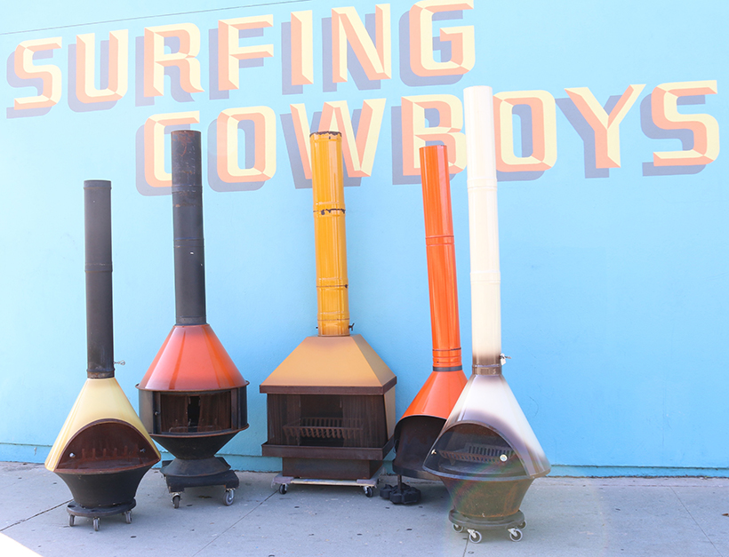midcentury fireplaces from Surfing Cowboys