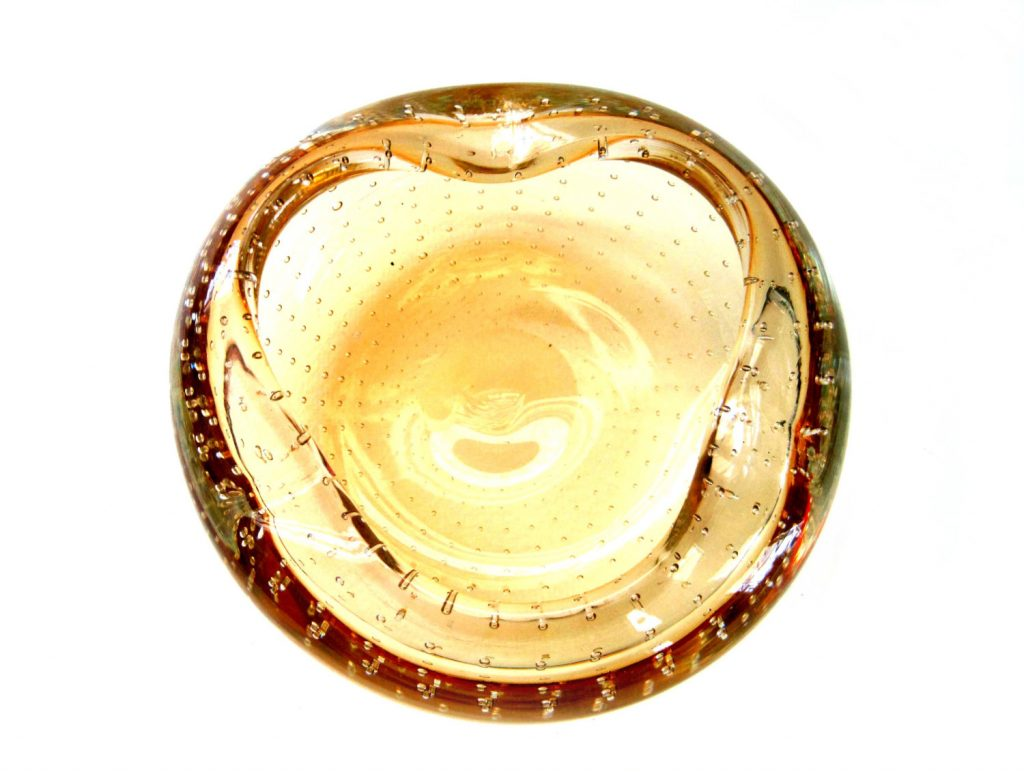 Erickson Art Glass bubbles ashtray
