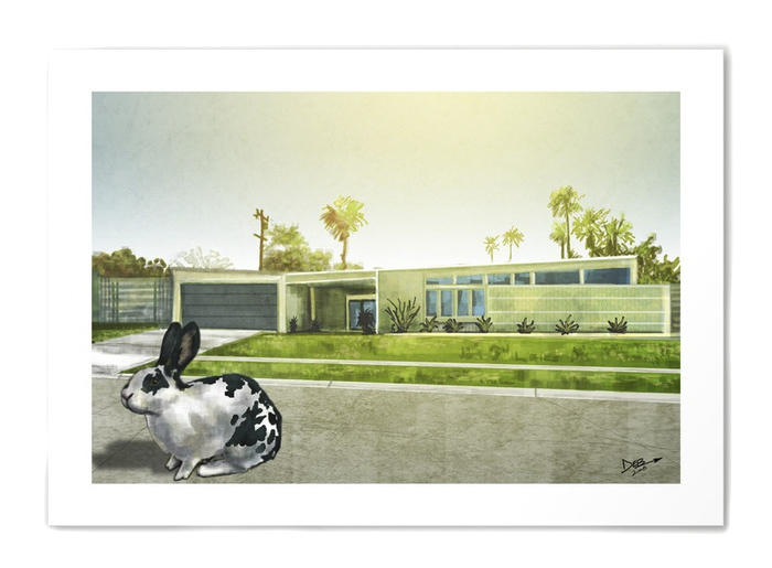 Modern rabbit no.1 art print by Mister Sidd