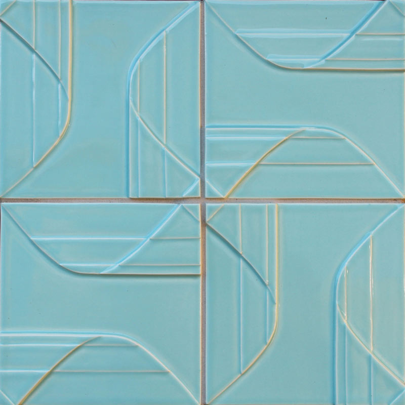 Pinwheel tile from Clayhaus Topo Collection