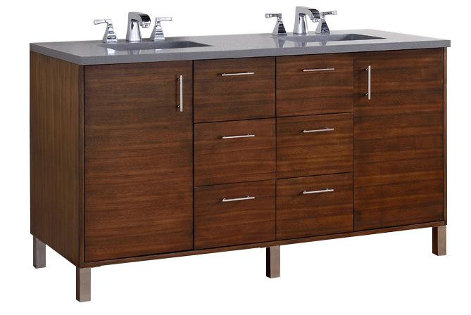 "Metropolitan 60"" double vanity by James Martin Furniture"