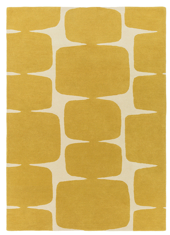 scion rug in mustard