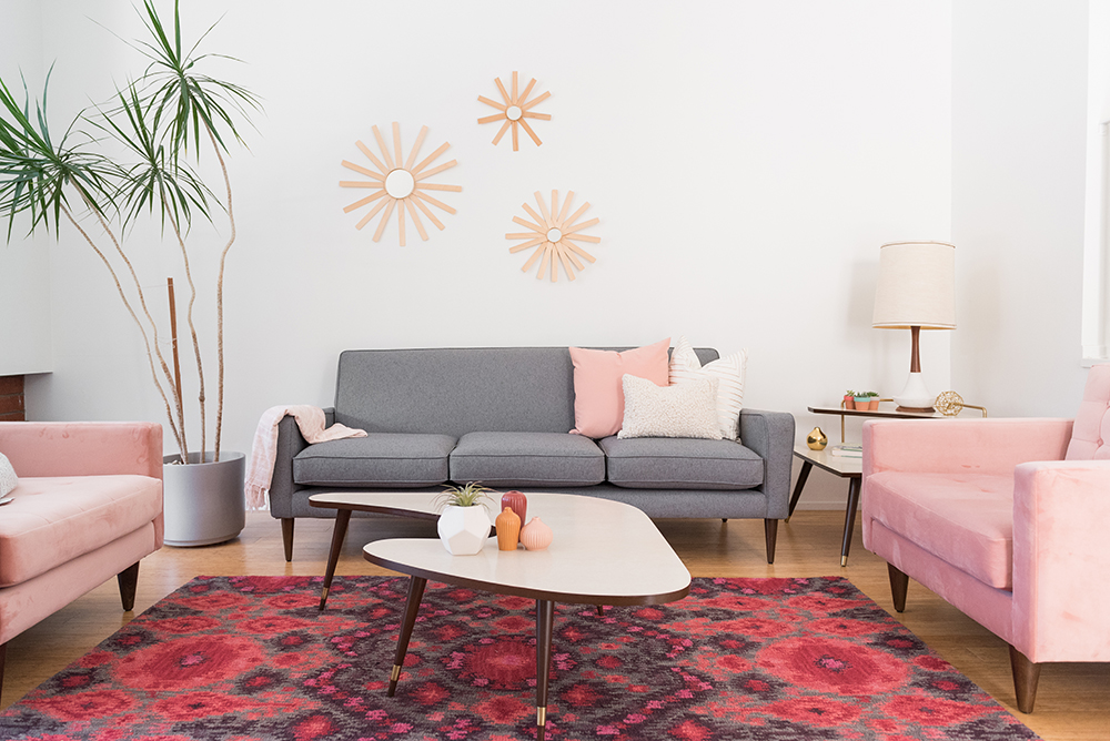Joybird Korver chairs and Winslow sofa