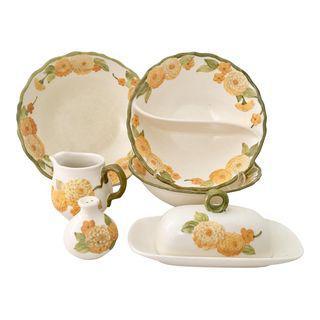 """Ceramic Metlox """"Zinnia"""" Dinnerware"""