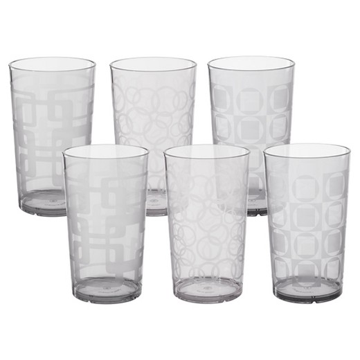 gray drinking glasses tumblers