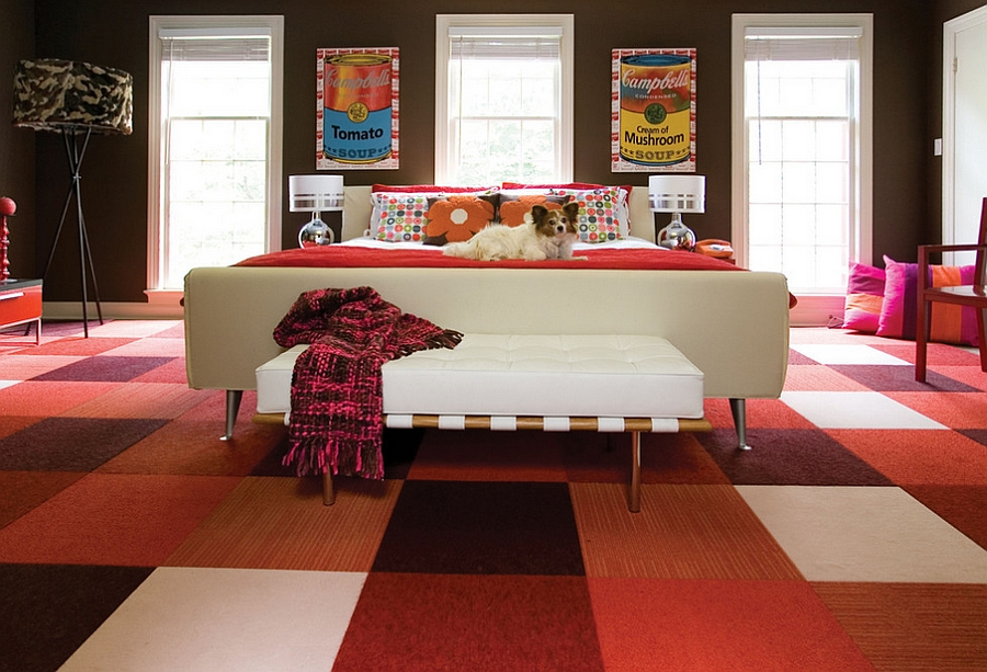 colorful carpet bedroom