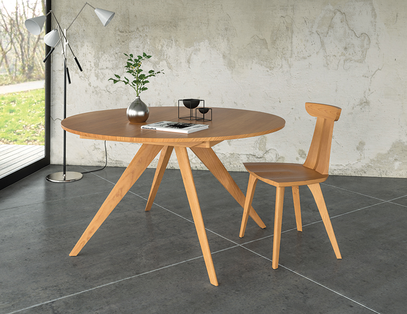 Catalina round extension table in cherry Copeland Furniture