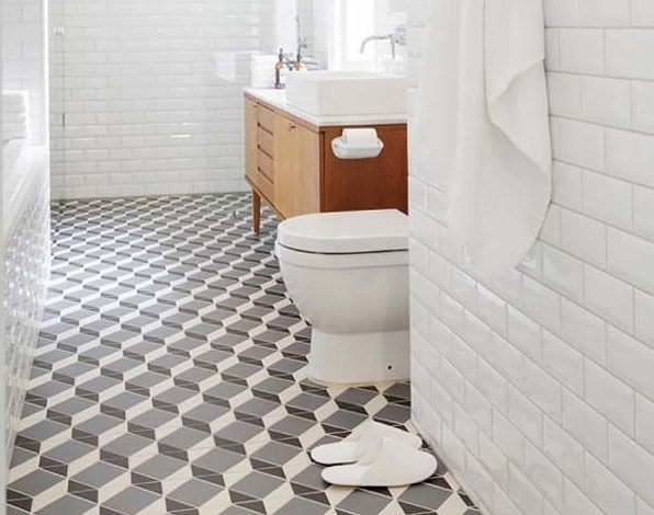 ceramic tile flooring bathroom
