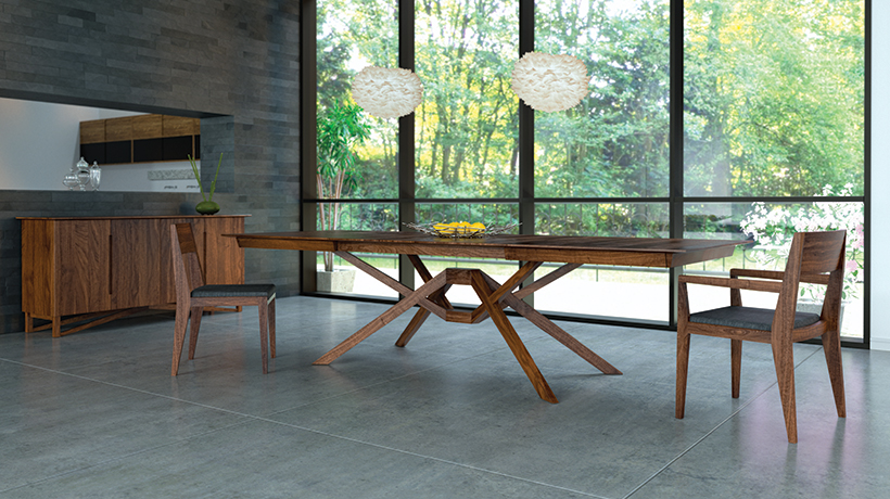 Exeter table in walnut Copeland Furniture