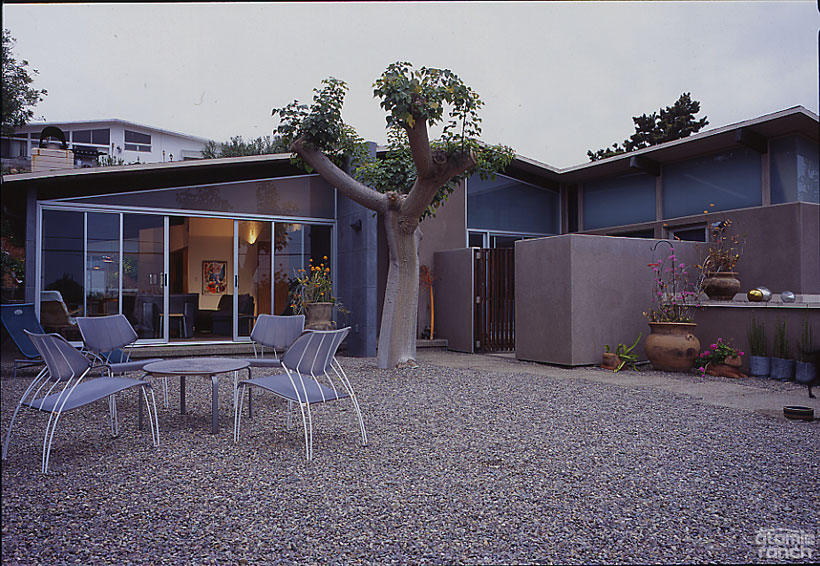 San Diego home exterior backyard