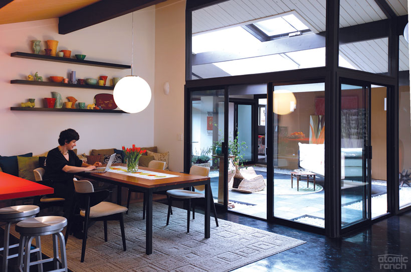 Portland Rummer dining area atrium