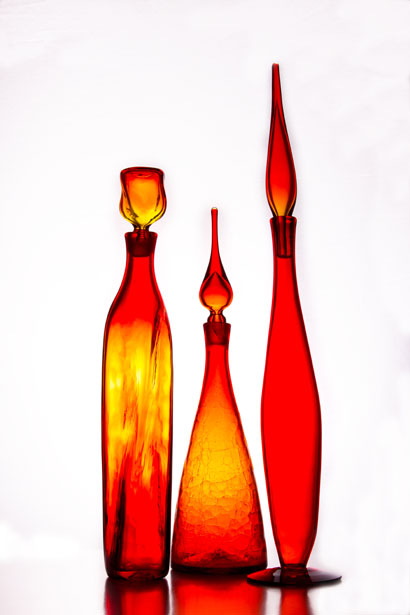 Blenko orange glass