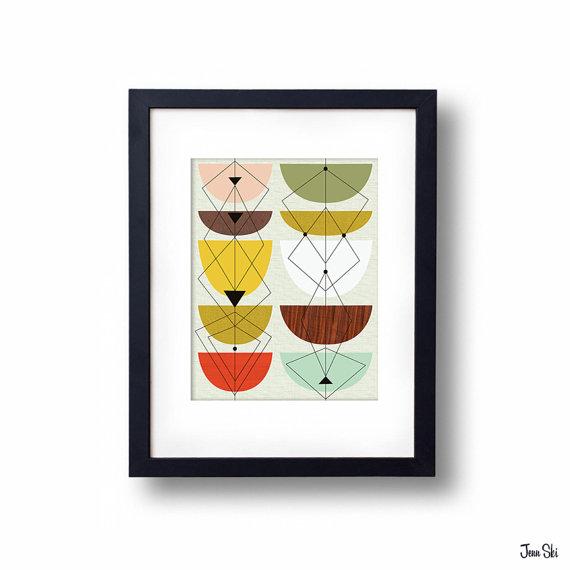 modern tulips print
