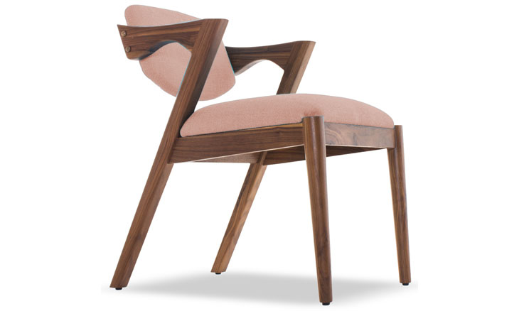 morgan dining chair in royale blush by joybird