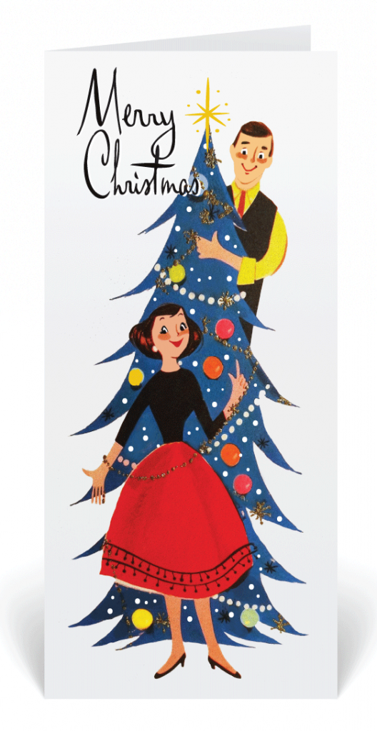 8 Perfectly Retro Christmas Cards - Home
