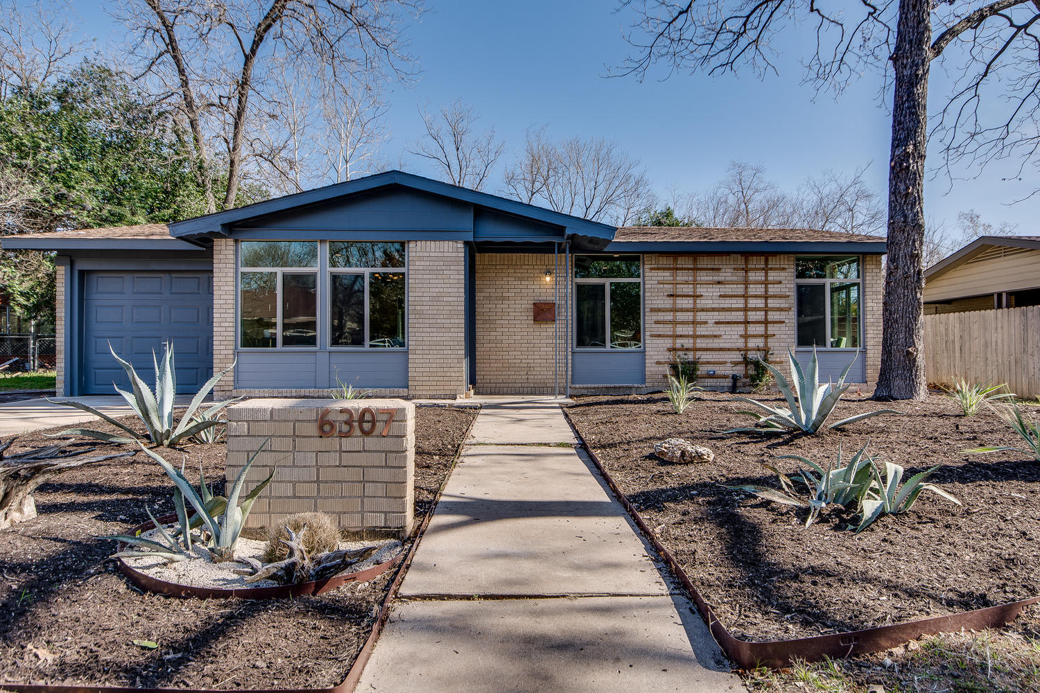 Mid Century Ranch Curb Appeal