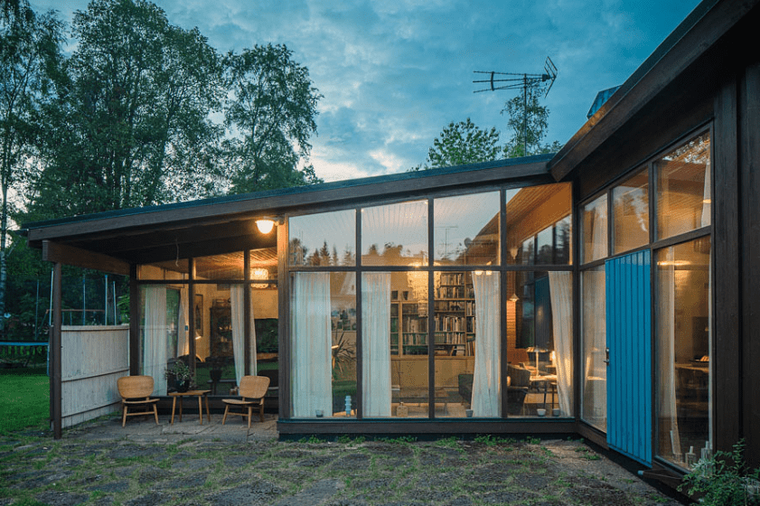 Greta Grossman Villa Sundin backyard