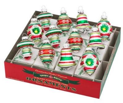 Shiny Brites Christopher Radko Holiday Splendor ornament set