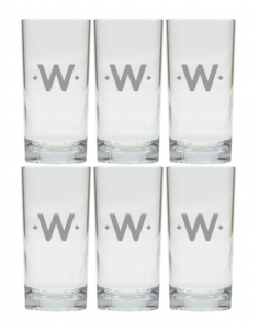 Personalized Tall Cooler Glasses, Set of 6