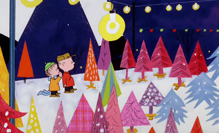 A Charlie Brown Christmas tree