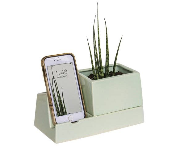 planter phone dock
