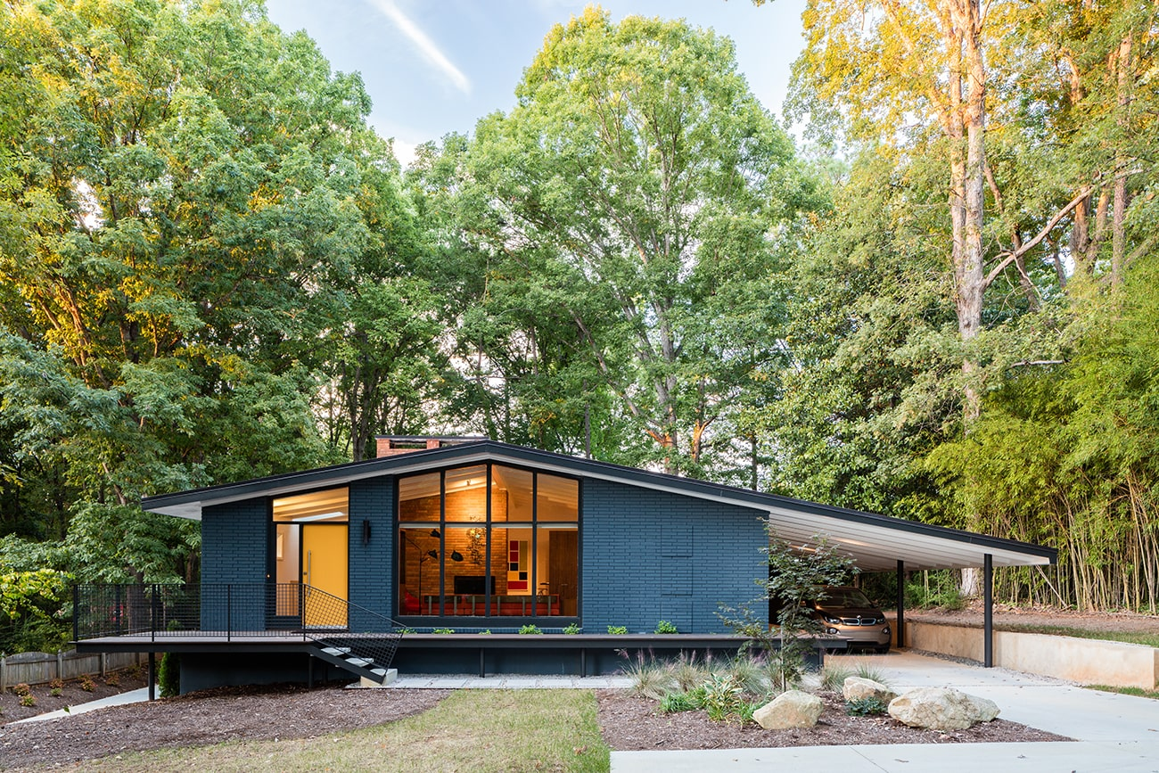 from california to carolina revival of a midcentury modern home home