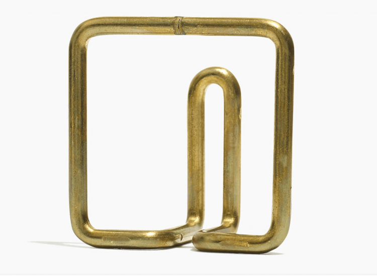 Brass towel hanger.