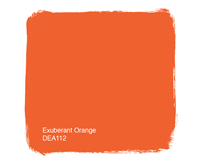 Exterior paint colors tinted exuberant orange.