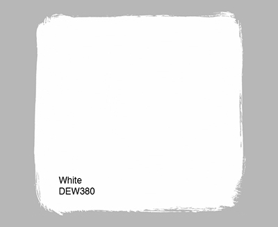 Exterior paint colors with a stark white shade.