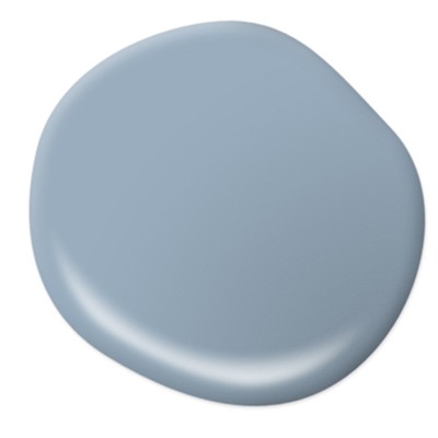 Exterior paint colors tinted soft blue.