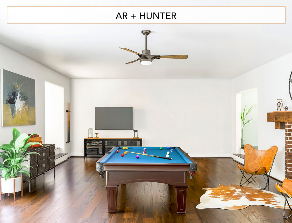 Atomic Ranch + Hunter: Sleek, midcentury-inspired ceiling fans open up design possibilities where you least expect it.