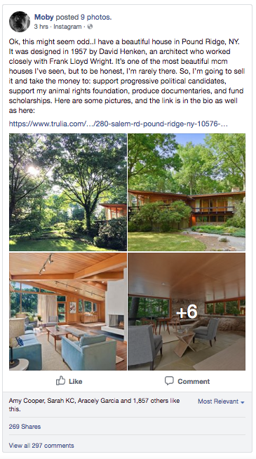 Musician Moby Selling Midcentury House Atomic Ranch