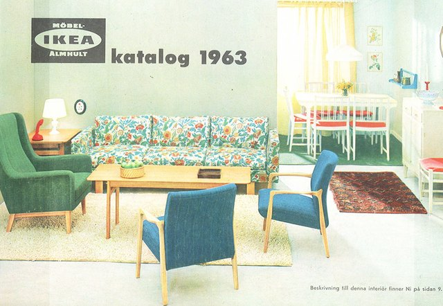 Vintage IKEA catalog page from 1963.