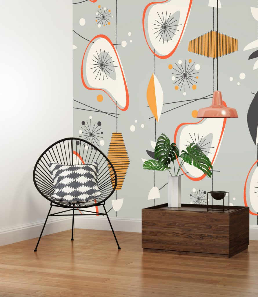 Peel-and-Stick Removable Wallpaper Palm Springs Midcentury 60S Architecture