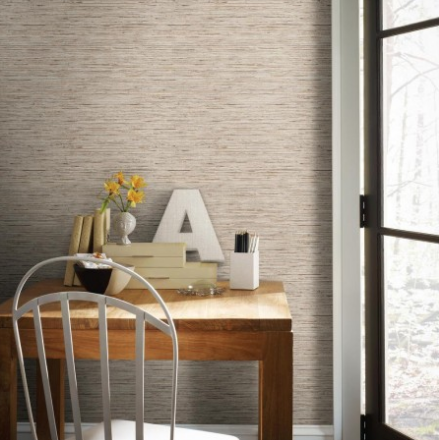 Grasscloth wallpaper Atomic Ranch