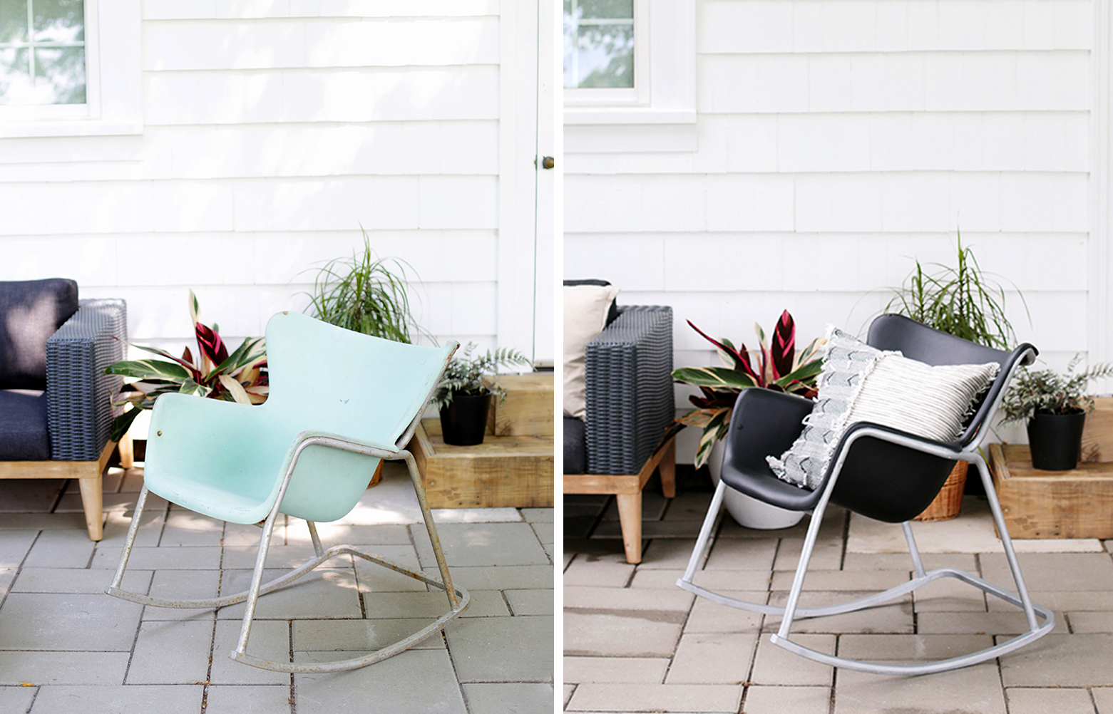 Patio Chair Makeover Before And After