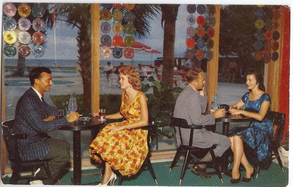 A postcard from the 60s at the William Hilton Inn on historic Hilton Head Island.