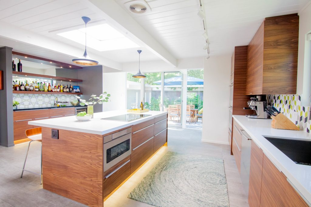 Midcentury Modern Kitchen Renovation With Destination