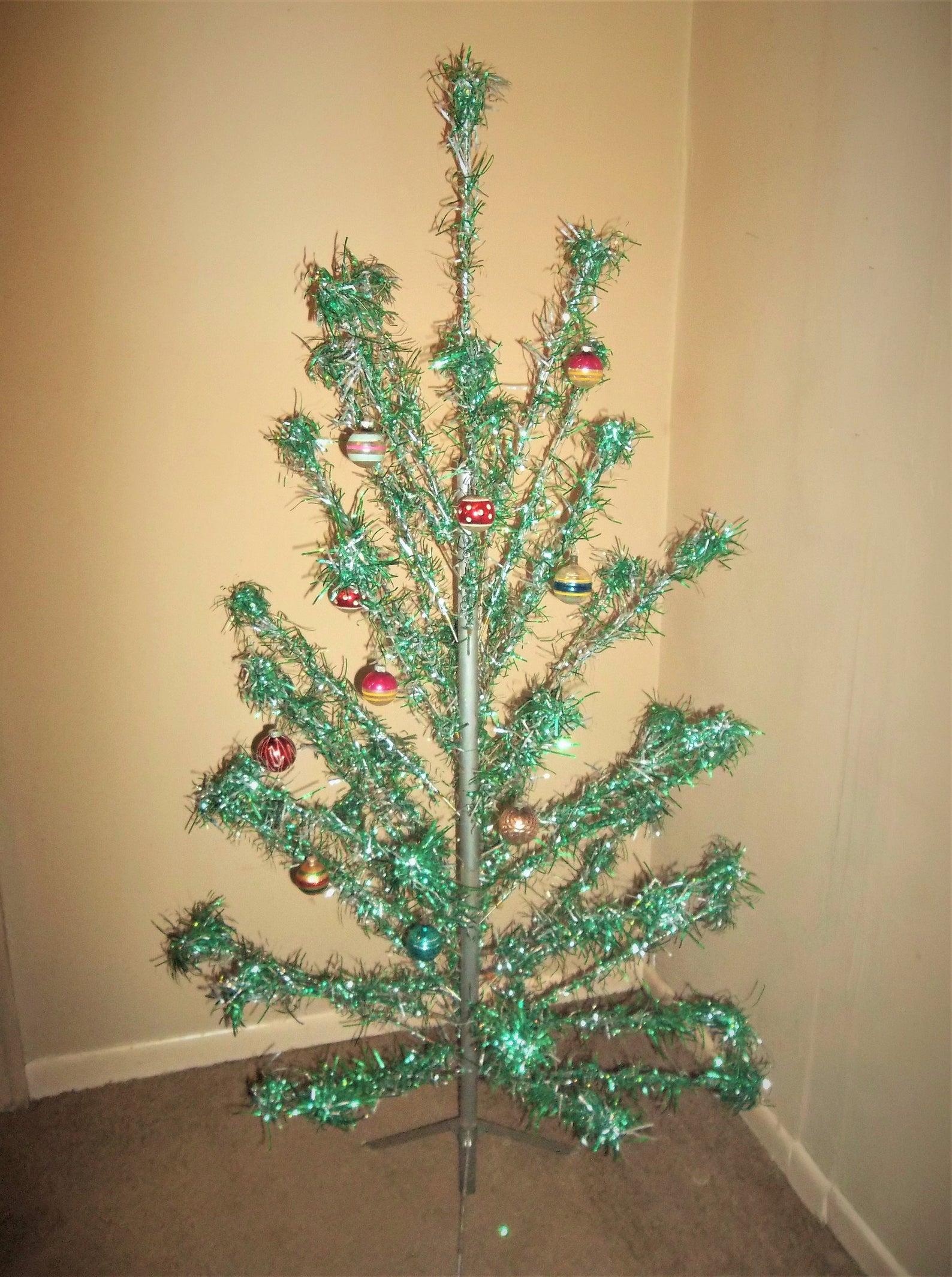 aluminum christmas trees green vintage