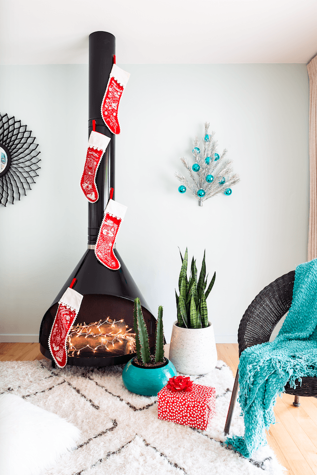 minimalistic mid century christmas decor is an easier look to achieve than you may believe
