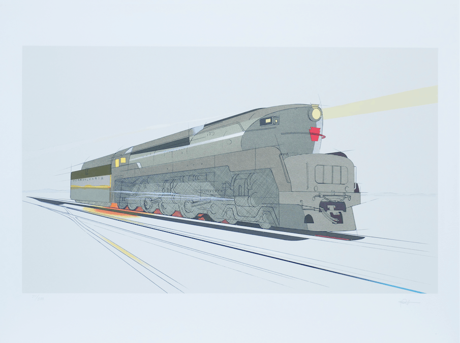 Professional art print of a train