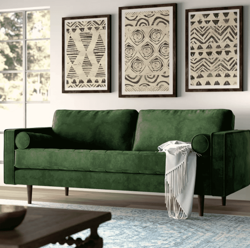 Looking to buy a sofa online? Skip the regret and head straight into your next Netflix binge with our tips on how to pick the best sofa—without a sit test. #atomicranch #sofa #onlineshopping #midcenturymodern #allmodern