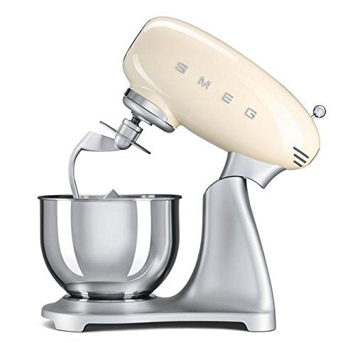 Smeg retro style aesthetic stand mixer in cream