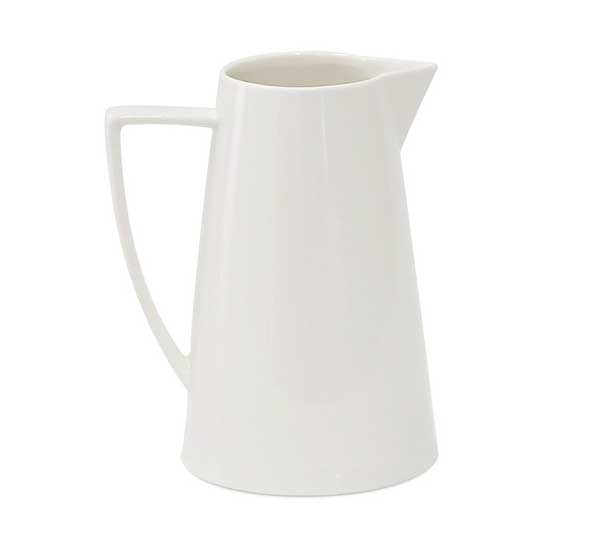 Jomop Modern Ceramic White Pitcher Water Jug