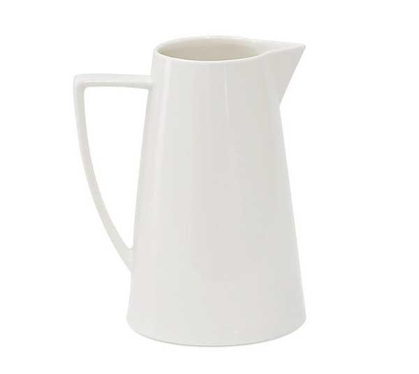 Jomop Modern Ceramic White Pitcher Water Jug